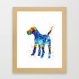 Irish terrier Framed Art Print