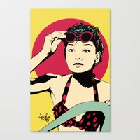 audrey Canvas Prints featuring Audrey by Vee Ladwa