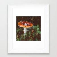 mushroom Framed Art Prints featuring Mushroom  by crrissttian