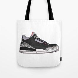 Jordan 3 - Black Cement Tote Bag