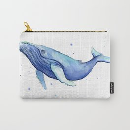 Nursery-Art-Print-Humpback-Whale-Watercolor-Painting-Sea-Creatures Carry-All Pouch
