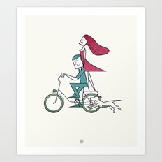 Faster than the wind Art Print