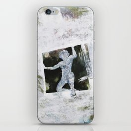 trapped man iPhone Skin