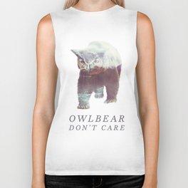 Owlbear (Typography) Biker Tank