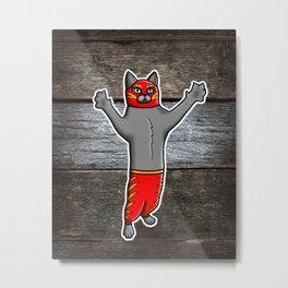 Gato Luchador - Cat Luchadore - Wrestler Kitty Metal Print