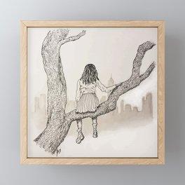 Climb Framed Mini Art Print