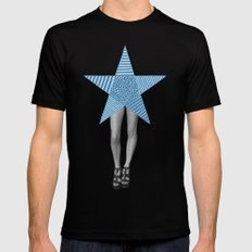 Feel Like A Star Mens Fitted Tee Black SMALL