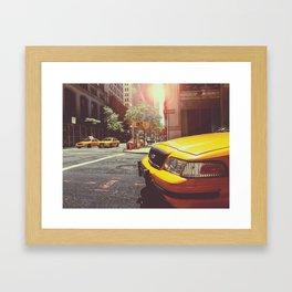 NYC Taxi Cab Framed Art Print