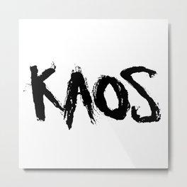 KAOS. Metal Print