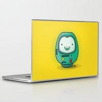 bmo Laptop & iPad Skins featuring Daruma: BMO by Monstruonauta