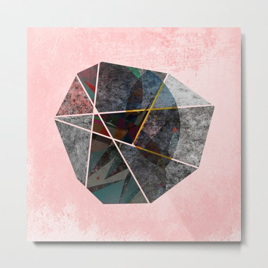 UNSETTLED OCTAGON Metal Print