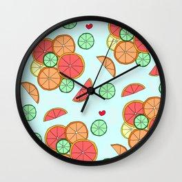 Lemons Limes & Grapefruit Wall Clock
