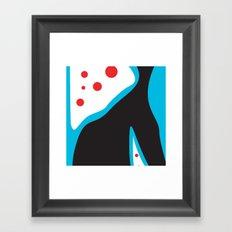 Blue Black Red Framed Art Print