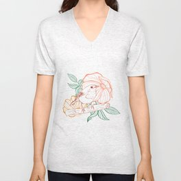 Bird & flower Unisex V-Neck