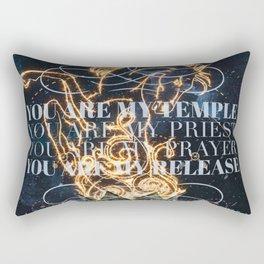 a torch Rectangular Pillow