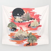 landscape Wall Tapestries featuring Landscape of Dreams by dan elijah g. fajardo