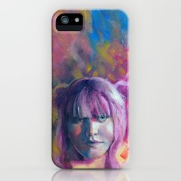Teya, Fine Art Oil Painting Portrait Print iPhone Case