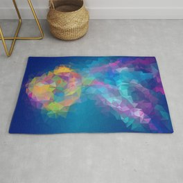 Triangles art low poly fish Rug