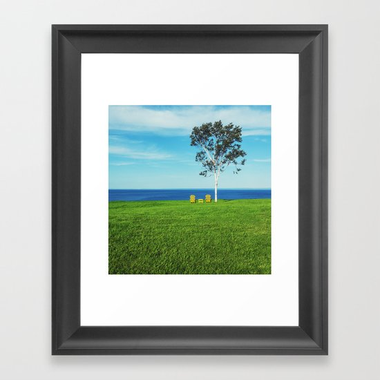 Chairs with a View Framed Art Print