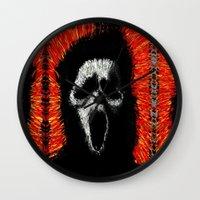 scream Wall Clocks featuring Scream by brett66