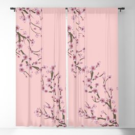 Cherry Blossom Branch Blackout Curtain