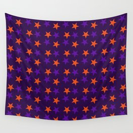 Magical Violet Stars Fall Halloween  2018 Wall Tapestry