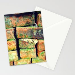 Green Stack Stationery Cards