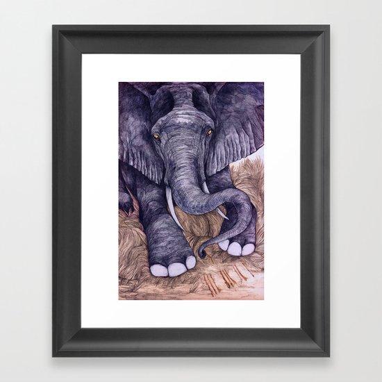 Une Mémoire d'Elephant (The Clever Elephant) Framed Art Print