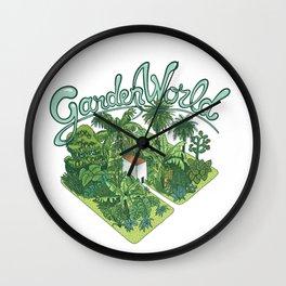 Garden World Wall Clock