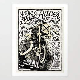 Feel the Road with a Cafe Racer 2 Art Print