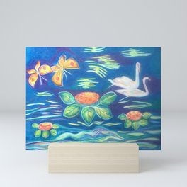The swans, love forever Mini Art Print