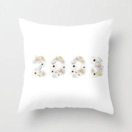 White Flower 2003 Throw Pillow