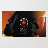 2001 Area & Throw Rugs featuring 2001 - A space odyssey by Martin Woutisseth