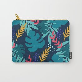 Blue Leaf Floral Pattern Vector 9 Carry-All Pouch