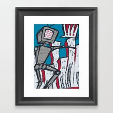 Manhattan vs. Depressed Giant Robot Framed Art Print