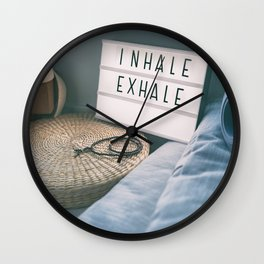 Yoga fitness class gym sign Wall Clock