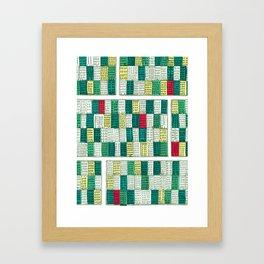 New York Streetscape (lucky green) Framed Art Print