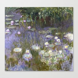 Water Lilies 1922 by Claude Monet Canvas Print