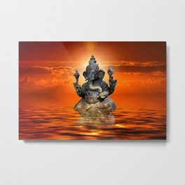 Elephant God Ganesha Metal Print