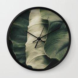 Elephant Ear Leaves Wall Clock