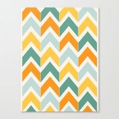 Citrus Chevron Canvas Print