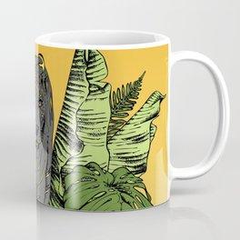 Tiger, Tropic Plants Coffee Mug