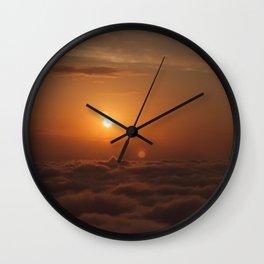Three Sun SunSet Wall Clock