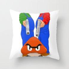 Super Bundock Bros Throw Pillow