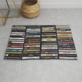 Old 80's & 90's Hip Hop Tapes Rug