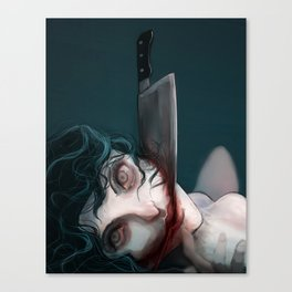 Slit-mouthed Canvas Print