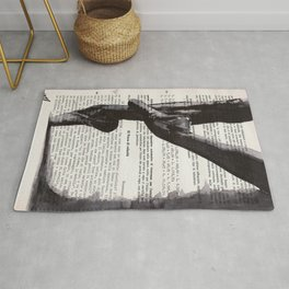 On toes - ink drawing Rug
