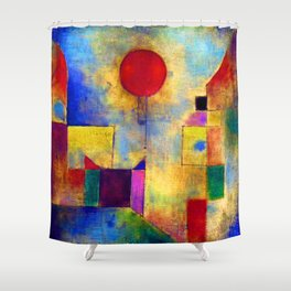 Paul Klee Red Balloon Shower Curtain