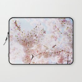 Soft Pink and White #pinkflower Laptop Sleeve