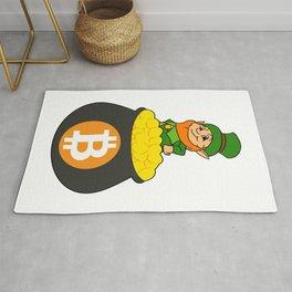 Leprechaun Bitcoin Pot Of Gold St Patricks Day HODL Rug